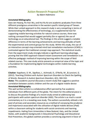 Action Research Proposal Plan