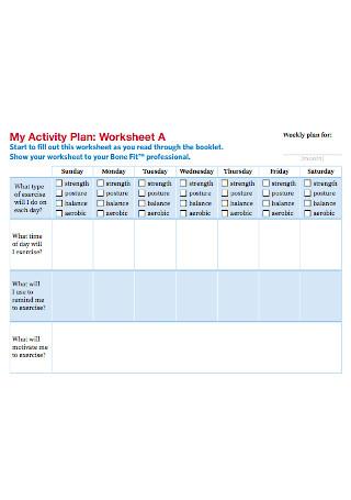 Activity Plan Worksheet