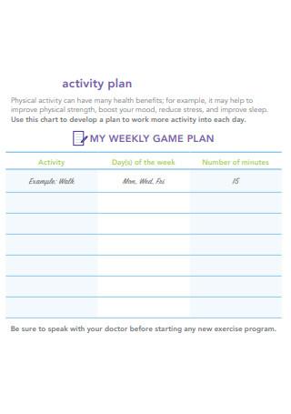 Activity Plan in PDF