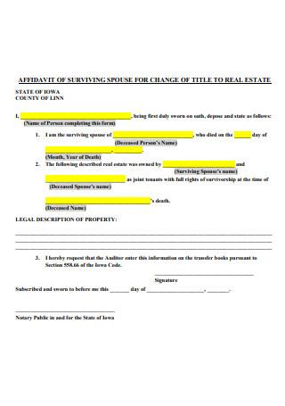 Affidavit of Change of Title