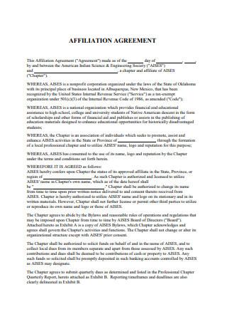 Affiliate Agreement in PDF