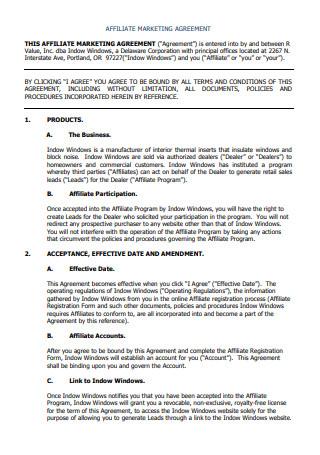 Affiliate Marketing Agreement
