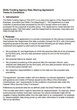 Agency Data Sharing Agreement