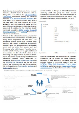 Analytical Framework Review Report