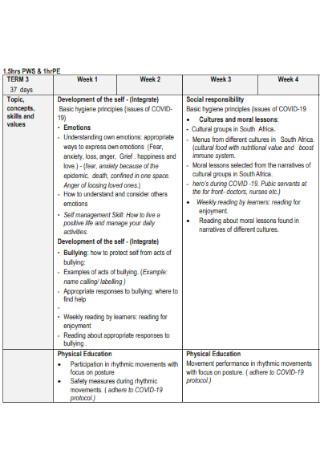 Annual Teaching Plan