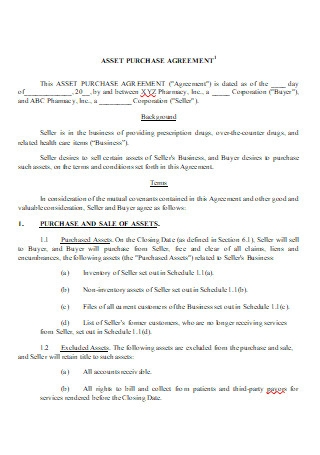 Asset Purchase Agreement in DOC