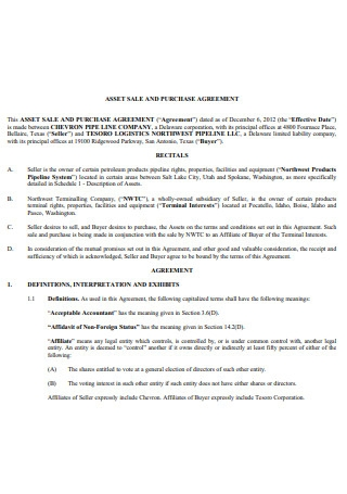 Asset Sale and Purchase Agreement