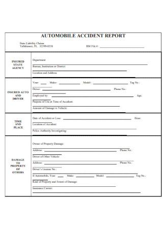 Automobile Accidnent Report