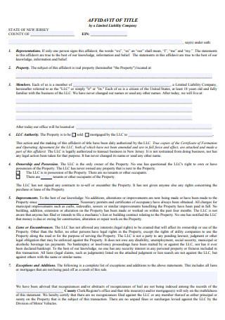 Basic Affidavit of Title