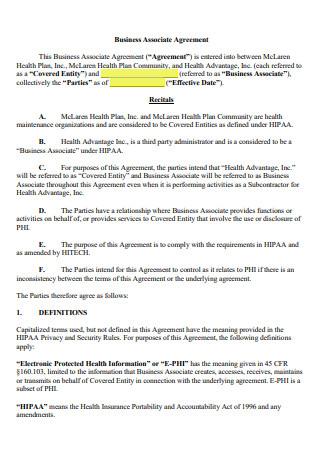 Basic Business Associate Agreement