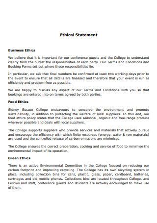 Basic Ethical Statement