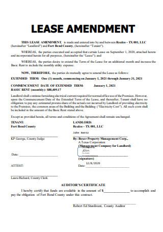 Basic Lease Amendment