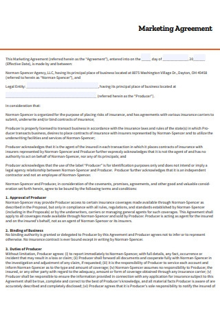 Basic Marketing Agreement