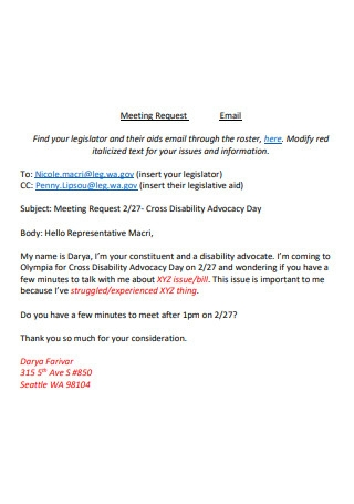 Basic Meeting Request Email