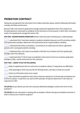 Basic Probation Contract