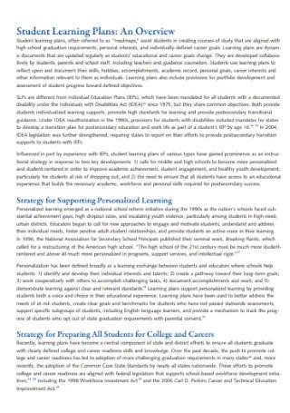 Basic Student Learning Plan
