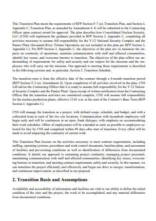 Basic Transition Plan