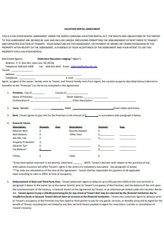 Basic Vacation Rental Agreement