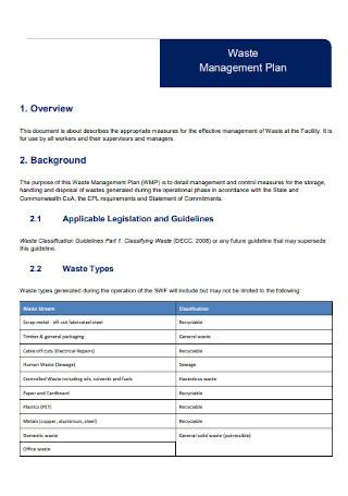Basic Waste Management Plan