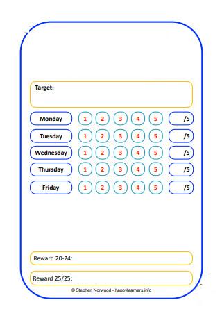 Basic Weekly Reward Chart
