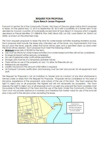 Beach Lease Proposal