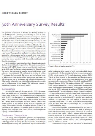 Brief Survey Report