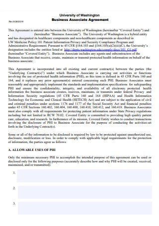 Business Associate Agreement Format