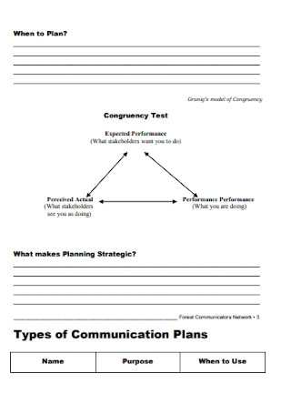 Business Communication Plan Workbook