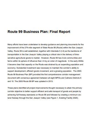 Business Plan Final Report