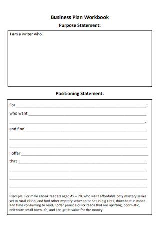 Business Plan Workbook and Statement