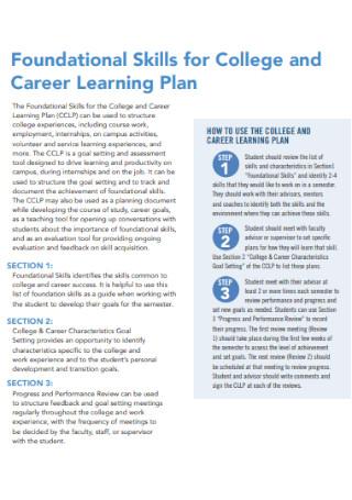 Career Learning Plan