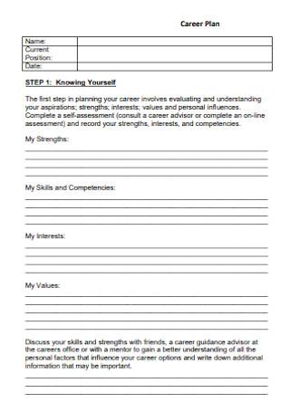 Career Plan Format