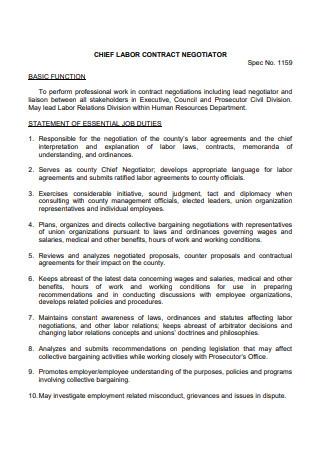 Chief Labor Contract