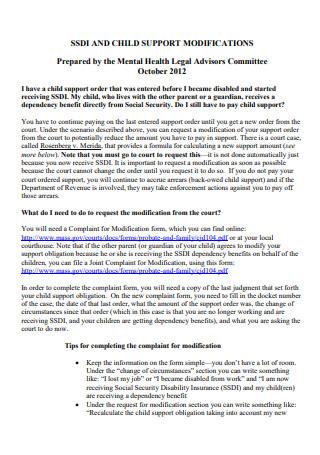 Child Support Modification in PDF
