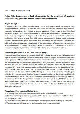 Collaboration Research Proposal