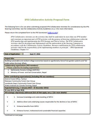 Collaborative Activity Proposal Form