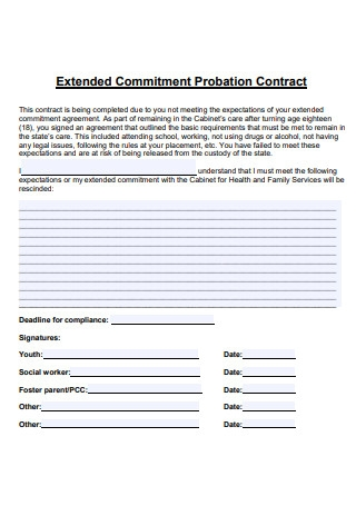 Commitment Probation Contract