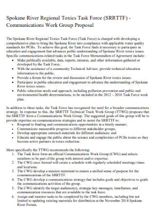 Communications Work Group Proposal