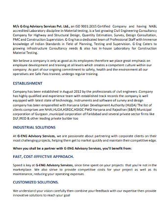 Conpany Advisory Services Profile