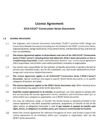 Construction Series License Agreement