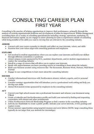 Consulting Career Plan
