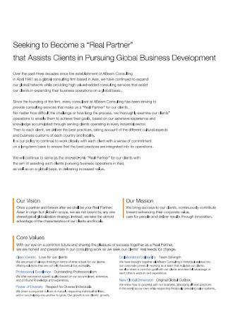 Consulting Company Profile