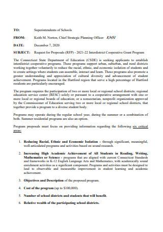 Cooperative Grant Program Proposal