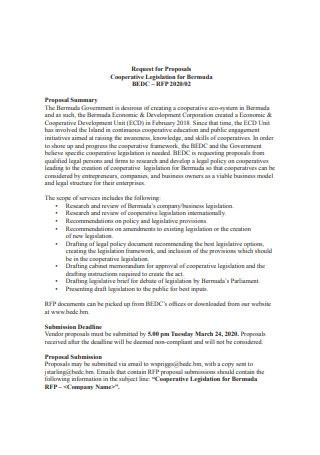 Cooperative Legislation Proposal