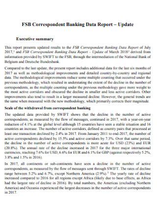 Correspondent Banking Data Report