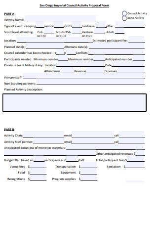 Council Activity Proposal Form