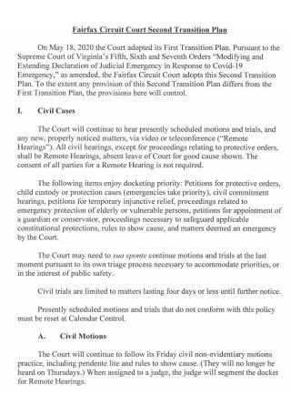 Court Second Transition Plan