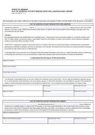 DNR Declaration Form