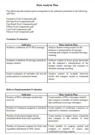 Data Analysis Plan Format
