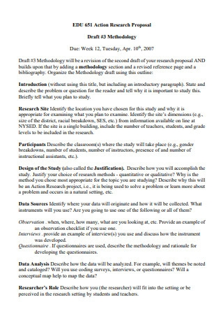 Draft Action Research Proposal